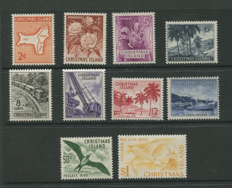 Christmas Is.  #11-20  MNH  1963  Set of 10 Stamps