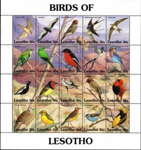 Lesotho - 1992 Birds Sheetlet SG 1064a