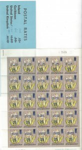 Guyana 1456 MNH Overprinted International Year of Peace, Complete Booklet