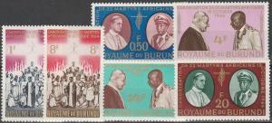 Burundi #95-100 MNH F-VF CV $2.55  (SU6230)