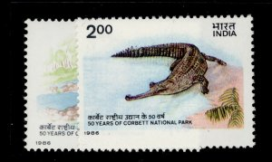 INDIA QEII SG1224-1225, 50 years of Corbett National Park complete set, NH MINT.