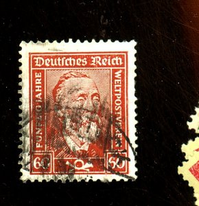 Germany #342a Used VF Chalky paper Cat $14