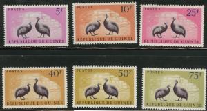 Guinea MNH 223-8 Birds 1961 SCV 5.90