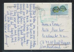 BAHAMAS  (P2209B) 1988 40C FISH ON PPC SHIP CANCELON CRUISE POSTED ON BOARD #2