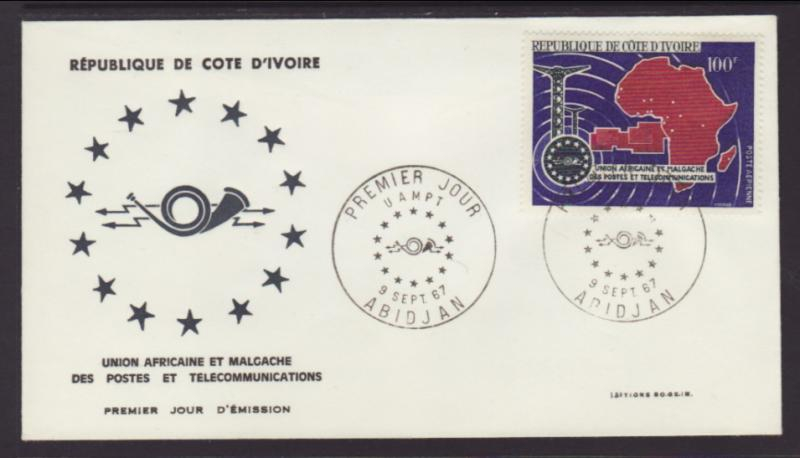 Ivory Coast C34 Telecommunications U/A FDC