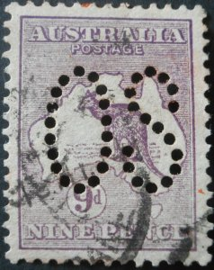 Australia 1913 Nine Pence Kangaroo Official SG O9 used