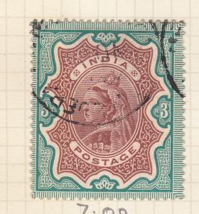 INDIA 1895 3 RUPEE VALUES  USED