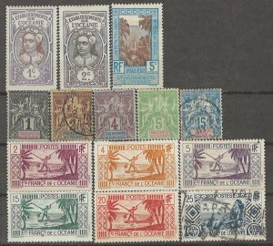 COLLECTION LOT # 4236 FRENCH POLYNESIA 14 STAMPS 1892+ CV+$31