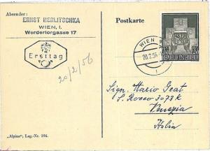 EAGLES \ BIRDS - POSTAL HISTORY  AUSTRIA : CARD from VIENA to ITALY 1956
