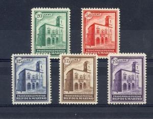San Marino Scott 134-138 Mint hinged