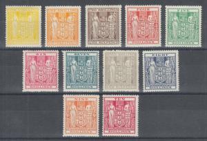 New Zealand Sc AR46-AR56, SG F145-F155 used. 1931-40 Postal Fiscals, short set