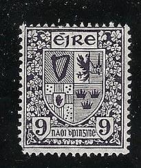 Ireland - Nine pence SE in Monogram Wmk.  mint NH #74