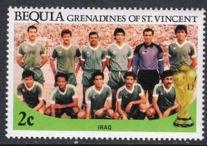 St Vincent Grenadines Bequia 219 Soccer MNH VF