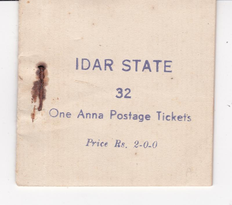 Idar (India) an intact booklet from 1944