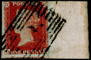 SG8, 1d red-brown PLATE 43, FINE USED. FULL SHEET MARGINAL.
