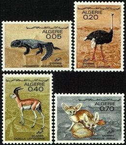 Algeria #374-77  MNH - Fauna Reptile Bird Ostrich (1967)