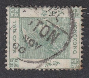 HONG KONG 1900 QV 2c CANTON cds of the Chinese Port Office..................P641
