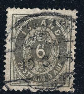 Iceland Scott #10 6Aur VF Used SCV $40...NO Reserve!