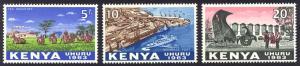 HALF-CAT BRITISH SALE: KENYA #1-4, O1-6 Mint NH