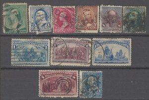 COLLECTION LOT OF # 1936 UNITED STATES 11 STAMPS 1887+ CV+ $29