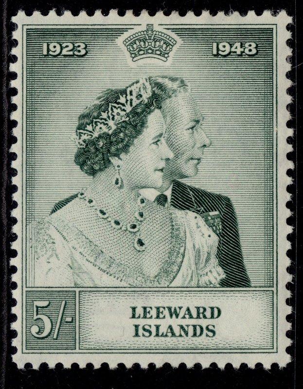 LEEWARD ISLANDS GVI SG118, 5s green, M MINT.