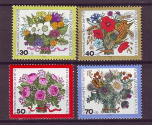 J20748 Jlstamps 1974 berlin germany set mnh #9nb110-13 flowers