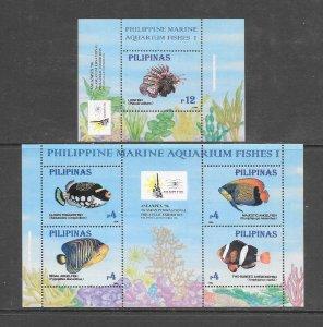 FISH - PHILIPPINES #2403-04  MNH
