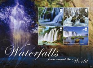 Montserrat Stamps 2016 MNH Waterfalls of World Iguazu Falls Waterfall 4v M/S