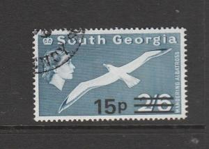 South Georgia 1971 Opts 15p on 2/6 VFU SG 29