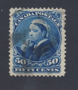 Canada Victoria Small Queen Stamp; #47-50c Used F/VF PP Guide Value = $65.00