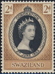 SWAZILAND - 1953 - QEII CORONATION SG 52 / Scott 54 - U/M**