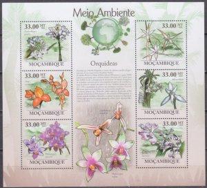 2010 Mozambique 3475-80KL Flowers 10,00 €