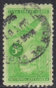 CUBA SC# C96  **USED** 1954  5c    AIRMAIL  SEE SCAN