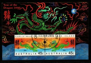 CHRISTMAS ISLAND SGMS478 2000 CHINESE NEW YEAR YEAR OF THE DRAGON FINE USED