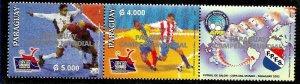 PARAGUAY 2003 FOOTBALL OF SALON,PARAGUAY WORLD CHAMPION,MNH MI 4919-20 YV 2888-9