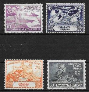 MALAYA PERLIS SG3/6 1949 U.P.U. SET USED