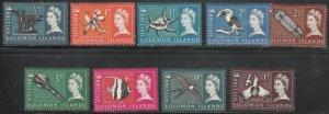 Solomon Islands #89-99 MNH Short Set of 9 cv $7.45