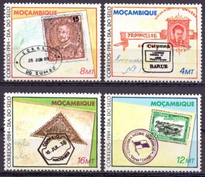 Mozambique. 1984. 1006-9. Stamps on stamps. MNH.