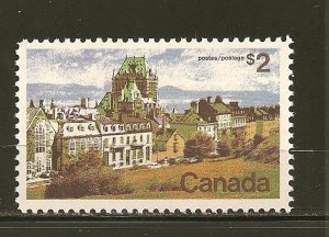 Canada 601 Quebec $2.00 Issue MNH