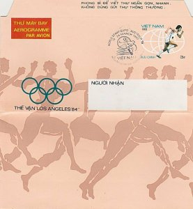 VIETNAM 1994 Olympic Games aerogramme cto World Stamp Expo 1999.............L388