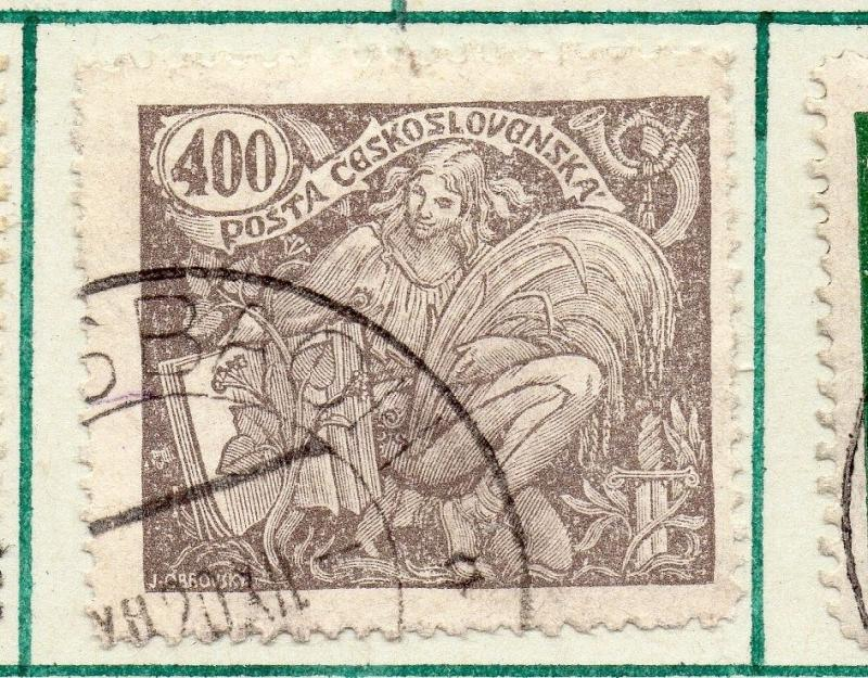Czechoslovakia 1920 Early Issue Fine Used 400h. 230147