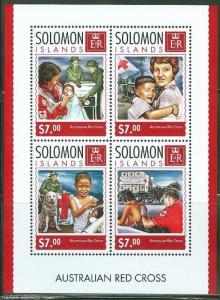 SOLOMON ISLANDS 2014 AUSTRALIAN RED CROSS RESCUE DOG   SHEET MINT  NH
