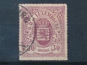 [69246] Luxembourg 1871 Coat of Arms 30 cent  USED VF