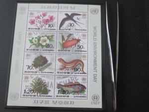 North Korea 1992 Sc 3151a Bird set MNH