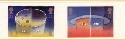 Great Britain Sc1374-7 1991 Europa-Space stamp set mint NH