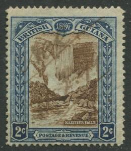 STAMP STATION PERTH British Guiana #153-QV 60TH Anniv.Throne Used Wmk 1 CV$5.00