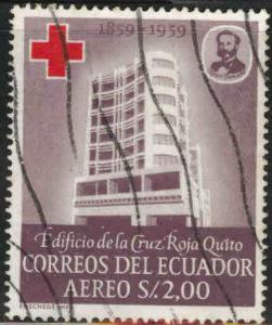Ecuador Scott C375 used Red Cross stamp