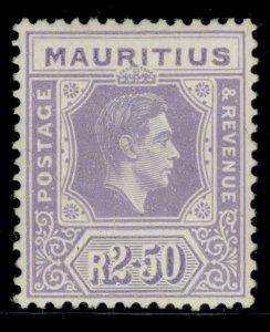MAURITIUS GVI SG261, 2r 50c pale violet, M MINT. Cat £60.