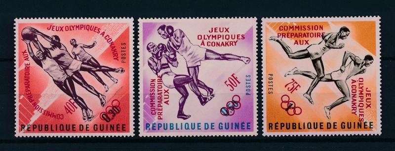 [61072] Guinea 1963 Red overprint Olympic games Boxing Basketball MNH