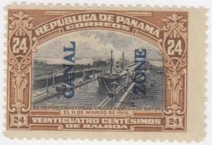 Canal Zone, Sc # 51 (2), Used, 1917, S.S. Cristobal